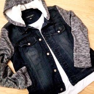 Black Rivet Jean Jacket Size XL